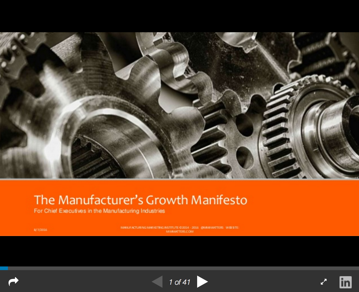 Here's why manufacturing marketing is so important for survival